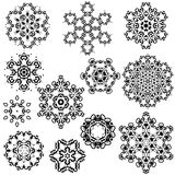 Vektoruppsättning av tappningsnöflingor för din vinter Arkivfoto