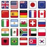 Vektoruppsättning av tillstånd för flaggavärldsöverkant royaltyfri illustrationer
