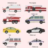 Vektoruppsättning av transportsymbolerna Arkivfoton