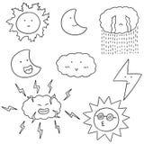 Vektoruppsättning av väder stock illustrationer