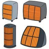 Vektoruppsättning av värmeapparaten Arkivbild