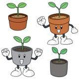 Vektoruppsättning av växten Arkivbilder