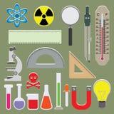 Vektoruppsättning av vetenskapssymboler Royaltyfria Foton
