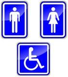 Vektoruppsättning av wc-tecken Royaltyfri Bild