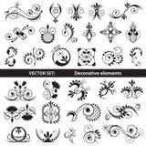Vektoruppsättning - dekorativa beståndsdelar Royaltyfria Bilder