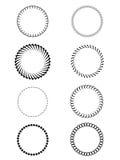 Vektoruppsättning- eller rundaramar Stock Illustrationer