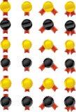 Vektoruppsättning - medaljer Arkivfoto