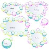 Baner med bubblar Royaltyfri Fotografi