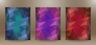Skrynklig pappers- abstrakt bakgrund 3 i 1 Arkivfoto