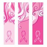 Vektoruppsättningen med abstrakta vertikala baner med prickiga rosa färger virvlar runt och det prickiga bandet vektor illustrationer