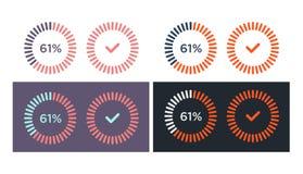 Vektoruppsättning av enkla päfyllningssymboler Arkivfoton