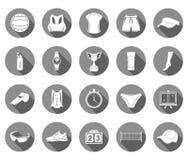 Vektoruppsättning av symbolsvolleyboll Arkivfoton