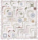 Vektoruppsättning: calligraphic designbeståndsdelar Royaltyfri Fotografi