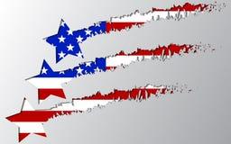 VektorUSA-flagga under stjärnaavbrott Arkivfoto