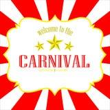 Vektorvälkomnande till karnevalbakgrunden Royaltyfri Bild