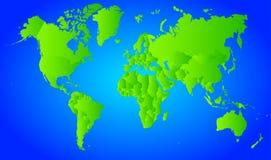 Vektorvärldskarta Royaltyfria Foton