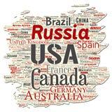 Vektorvärldsland eller kontinent stock illustrationer