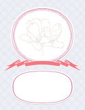 Vektorvalentinkort, gifta sig inbjudanmall Royaltyfri Fotografi