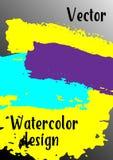 Vektorvattenfärgbakgrund royaltyfri illustrationer