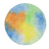 Vektorvattenfärgbakgrund i jordfärger Arkivbild
