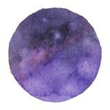 Vektorvattenfärgbakgrund i kosmiskt, utrymme färgar Arkivfoton