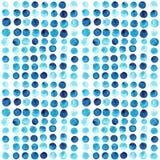Vektorvattenfärgen cirklar (den belade med tegel) sömlösa modellen, Retro hand D vektor illustrationer