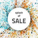 Vektorvattenfärgfärgstänk Sale Royaltyfri Foto