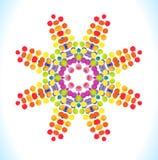Vektorvattenfärgstjärna med färgrika regnbågeklickar Fotografering för Bildbyråer