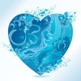 Vektorvattenhjärta vektor illustrationer