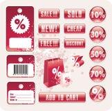 Vektorverkaufs-Markenaufkleber Lizenzfreies Stockbild