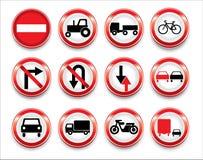 Vektorverkehrszeichenansammlung Lizenzfreie Stockbilder