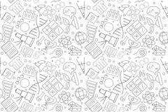 Vektorvetenskapsmodell Sömlös bakgrund för vetenskap stock illustrationer