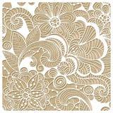 Vektorvinter Lacy Pattern Royaltyfri Foto