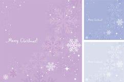 vektorvinterbakgrund av snowflakes Royaltyfri Foto