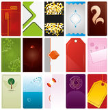 VektorVisitenkarte-Schablonen Lizenzfreies Stockfoto