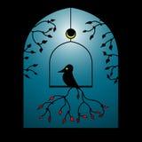 Vektorvogel in einem Fenster vektor abbildung