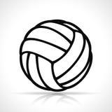 Vektorvolleyballballschwarzikone stock abbildung