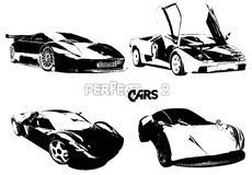 vektorvollkommene Autos 2 Lizenzfreie Stockfotos