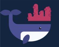 Vektorwalillustration des Meeressäugetiers Lizenzfreie Stockfotos