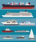 Vektorwasser-Transport infographics Lizenzfreie Stockbilder