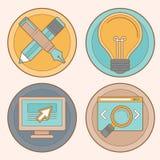 Vektorwebdesign und -entwicklung Lizenzfreies Stockbild