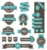 Vektorwebdesignfahnen und -elemente lizenzfreie abbildung