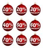 Vektorweihnachts- oder Rabattaufkleber des neuen Jahres Lizenzfreies Stockfoto