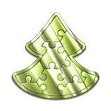VektorWeihnachtsbaum maded von den Puzzlespielen Lizenzfreie Stockfotografie