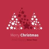 VektorWeihnachtsbaum von den Sternen Lizenzfreie Stockbilder
