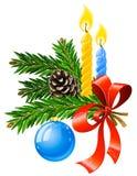 Vektorweihnachtsfeiertagsdekoration Lizenzfreie Stockfotografie