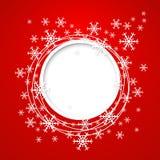 Vektorweihnachtsgrußkarte. Lizenzfreie Stockbilder