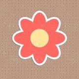 Vektorweinlese-Blumenaufkleber Lizenzfreie Stockfotos