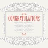 Vektorweinlese Glückwunschkarte stock abbildung