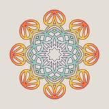 Vektorweinlese Mandala-Zeichenrahmen Dekorative Elemente der Weinlese Orientalisches Muster Stockbilder